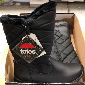 Black women's waterproof totes boots
